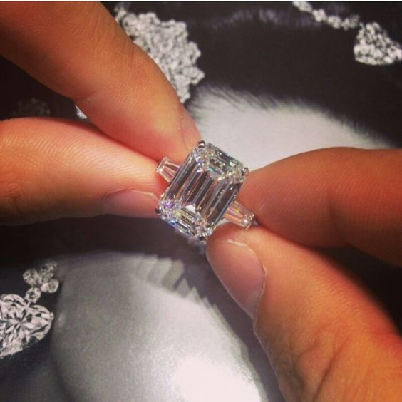 Graff Diamonds, emerald cut with sides to match
