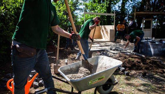 Fundament Erstellen Anleitung In 7 Schritten Obi Fundament Gartenhaus Garten Planen Gartenmauer Selber Bauen