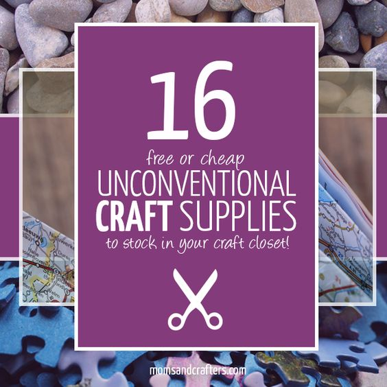 You will absolutely love this fun list of unconventional craft supplies that are easy and cheap to stock! And it also includes lots of crafts to make with them (including plenty of upcycled crafts)