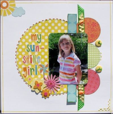 layout made with sketch #scrapbooking #layout