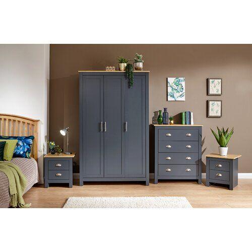 Boalt 4 Piece Bedroom Set Brambly Cottage Colour Blue Mit