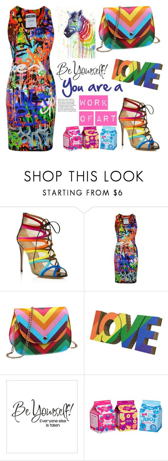 """""""Work of Art"""" by laura-wild-1 ❤ liked on Polyvore featuring Salvatore Ferragamo, Moschino and Anja"""
