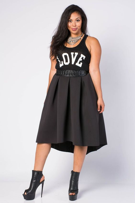High Low A Line Skirt