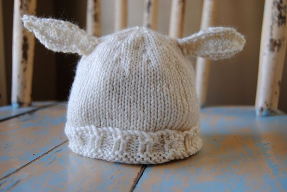 Newborn Hat with Animal Ears for your little Lamb!