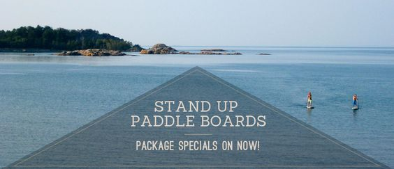 Stand Up Paddle Boards for Rent from Casualties in Marquette, Michigan