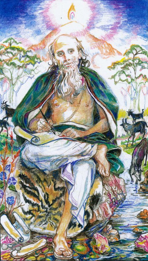 sacred india Tarot, manu, hierophant