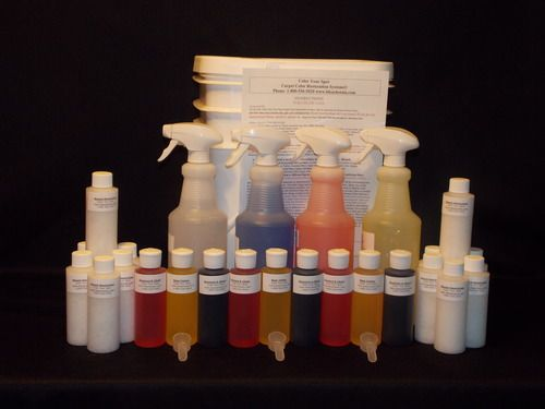 Pro Spot Dye Kit Carpet Repair Cleaning Chemicals Stain