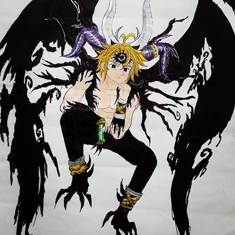 Image Result For Demon King Meliodas Demon King Seven Deady Sins Seven Deadly Sins Anime