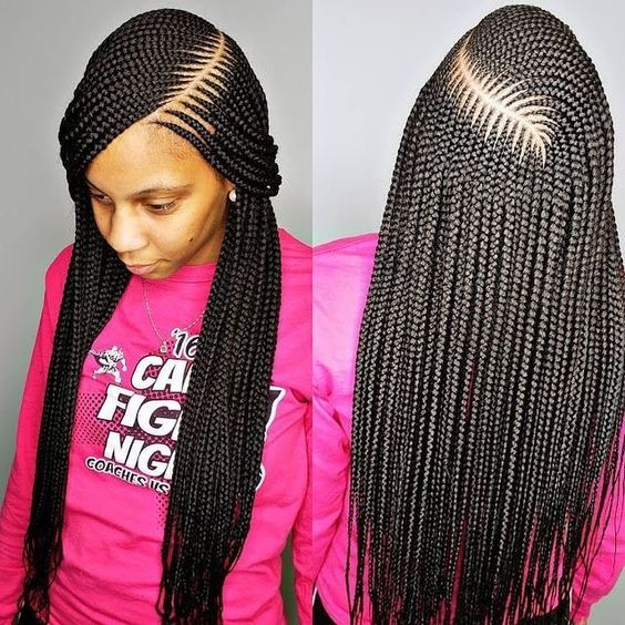 Cornrow Braided Hairstyles For Natural Hair 50 Catchy Cornrow Braids Hairstyles I African Hair Braiding Styles African Braids Styles African Braids Hairstyles