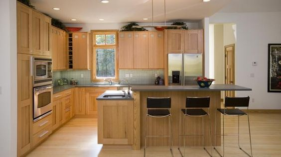 Decks interior design and interiors on pinterest for Acorn kitchen cabinets