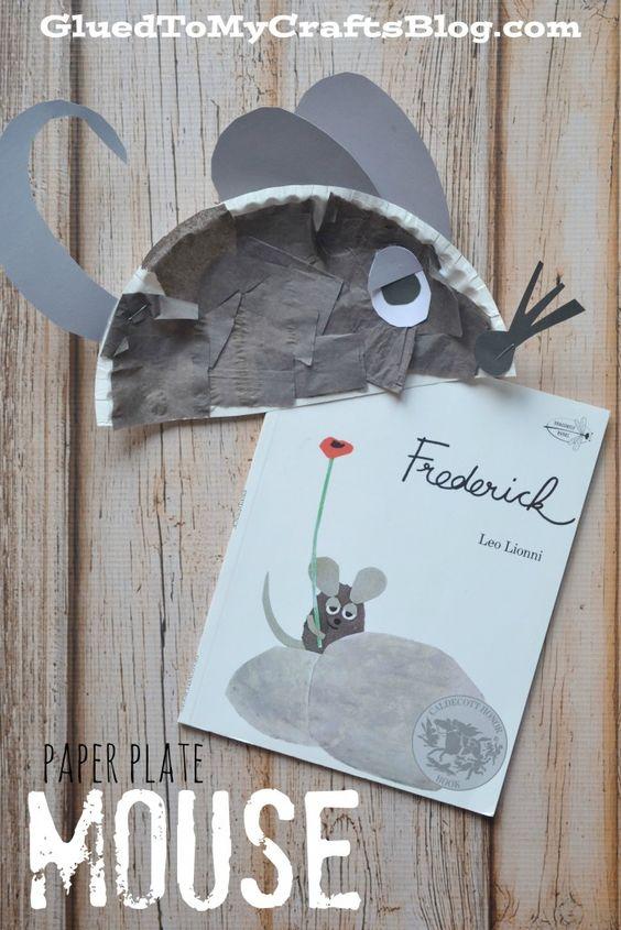 """Sprachförderung durch Bilderbücher -  hier ein sehr beliebtes Bilderbuch """"Frederick"""", dazu wurde im Anschluss an die Bilderbucherzählung Frederick, die Maus, aus einem Pappteller gestaltet!"""