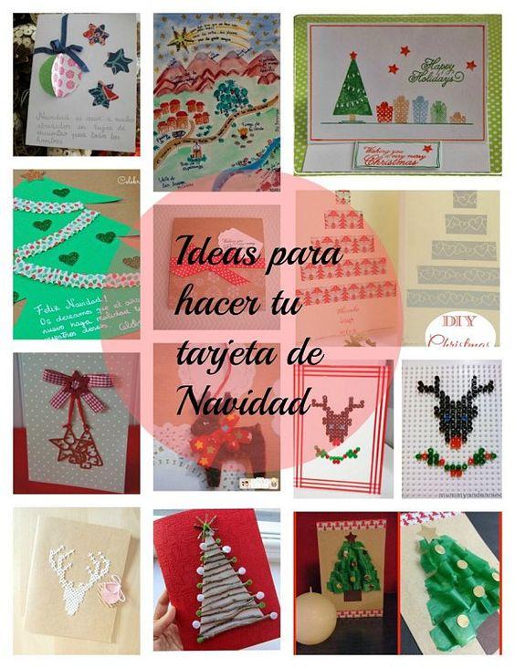 ideas pata hacer tarjetas de navidad o christmas