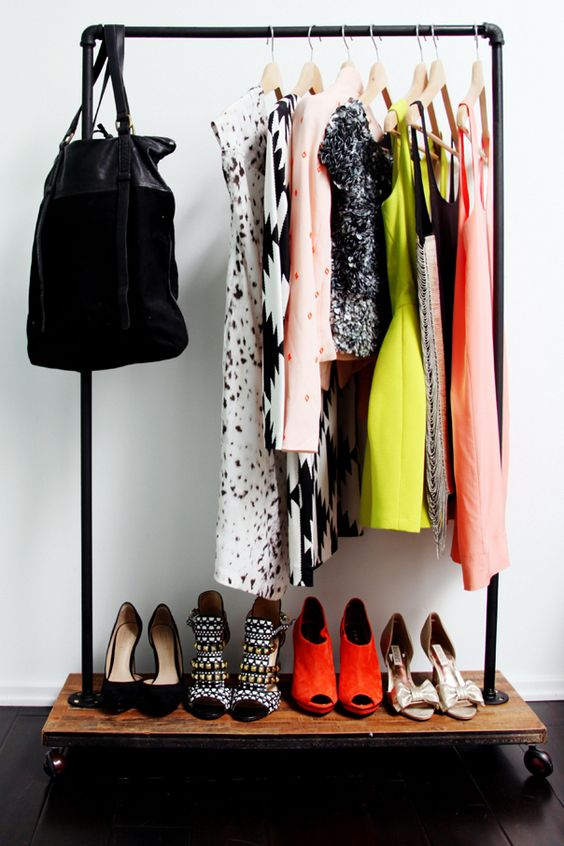 Style at Home: Sarah Sherman Samuel / Photography: Jessie Webster clothing rack