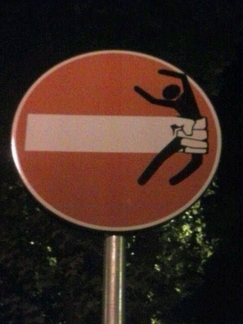 Clet - street artist: