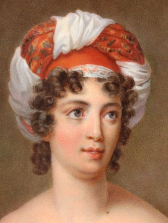 It's About Time: 1600s-1800s - A few truly fetching European turbans 1816 Marie-Victorine Jaquotot (1772-1855) Attrib. Mme de Staël