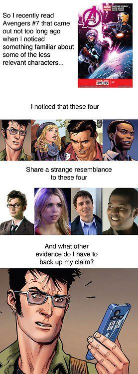 How Marvel smuggled Doctor Who into the Avengers. Not sure if its real but still fun to think about it!
