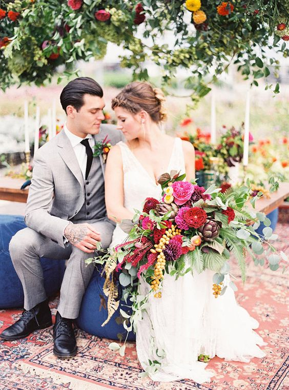 luxe, jewel tone wedding