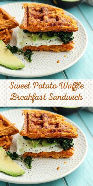Sweet Potato Waffle Breakfast Sandwich