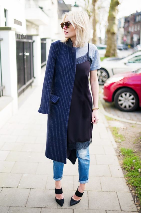 The Prettiest Layering Combination Everyone's Wearing via @WhoWhatWear:
