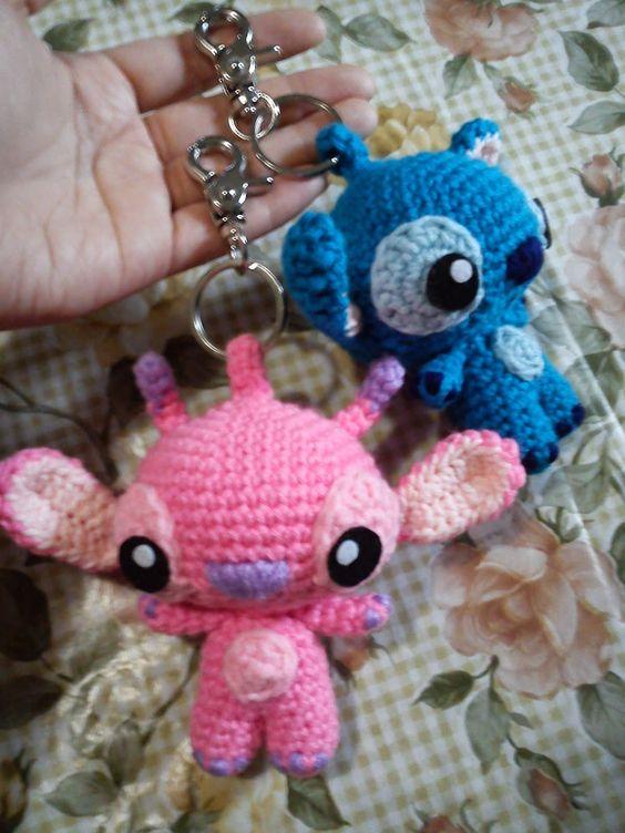 Amigurumi Stitch Free Pattern : Angel Stitch Keychain - Free Amigurumi Pattern here ...