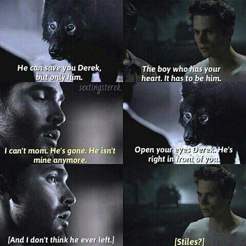 He has never left... #sterek #sad #love