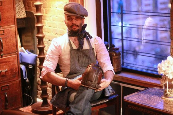 Giovanni James' utilitarian-inspired style gives a whole new meaning to work boots, kneepads & aprons