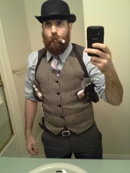 halloween costumes for bearded guys - if you don't have a beard, invest in a good,but real looking false beard, you can wear again and again.