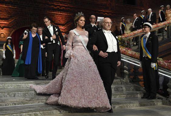 La llegada de la princesa Magdalena en compañía de Duncan Haldane, también ganador del Premio Nobel en la categoría Física