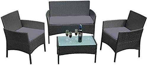 Lemeizhijia Balkon Mobel Set Gartengarnitur Rattan Lounge Set