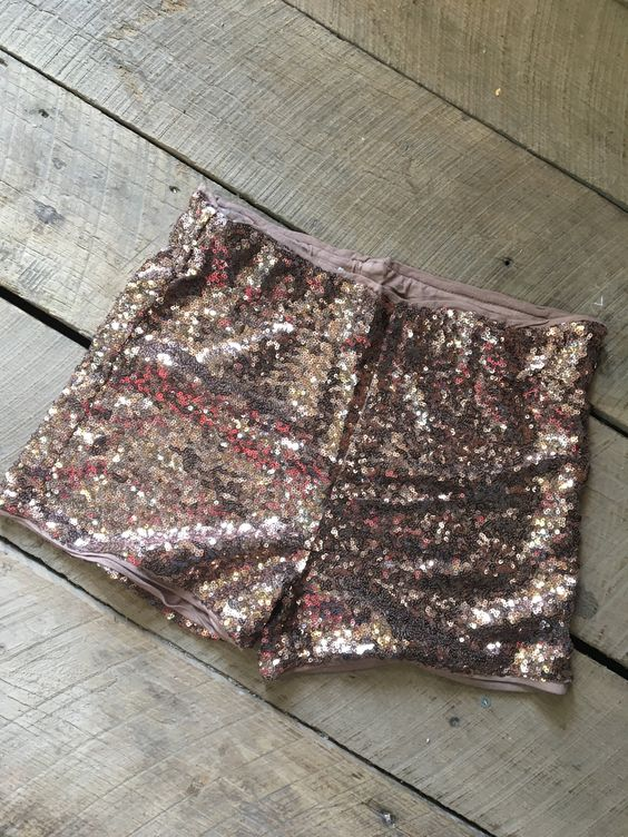 BEAUTIFUL rose gold sequin shorts. Comfortable cotton insert. Fitted but stretchy and comfy.