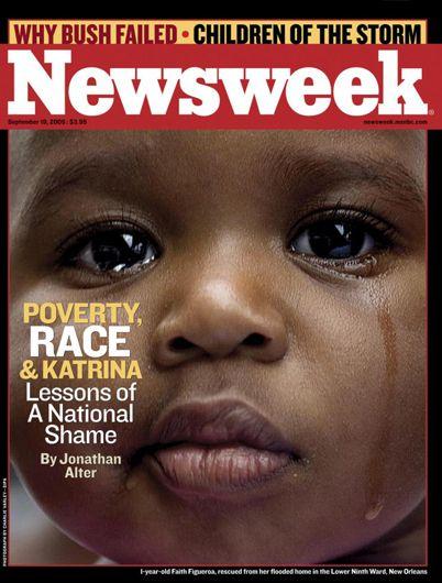 """KATRINA ♦ 19.09.05 - Revista Newsweek (EEUU): """"Pobreza, raza y Katrina. Lecciones de una vergüenza nacional"""". Analiza el papel que la pobreza y el componente racial jugó en el desastre de Katrina, y las lecciones que dejó. Además, se abordan los fracasos gubernamentales y se enfrenta el futuro de los miles de niños que buscan a sus padres. #HurricaneKatrina #Katrina #Hurricane #HuracanKatrina #Huracan #GeorgeBush"""