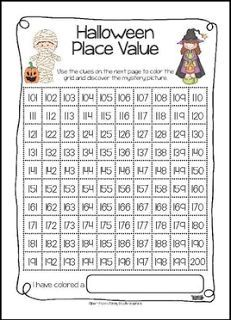 """FREE MATH LESSON - """"Halloween Place Value FREEBIE"""" - Go to The Best of Teacher Entrepreneurs for this and hundreds of free lessons. 2nd - 4th Grade #FreeLesson  #Math  #Halloween  http://www.thebestofteacherentrepreneurs.com/2015/09/free-math-lesson-halloween-place-value.html"""