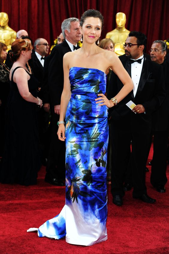 Maggie Gyllenhaal at the 2010 Academy Awards: Maggie Gyllenhaal looked bold yet elegant in this painted Dries Van Noten column gown in 2010.
