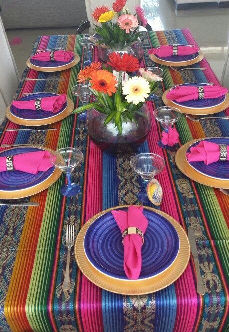 Mesa mexicana ideas de decoracion pinterest mesas for Decoracion mexicana