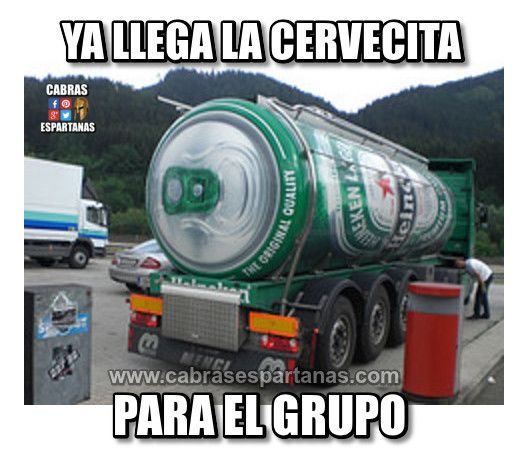 Camión de cerveza ya está llegando