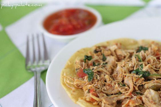... Chicken and Ranch Florentine Tostadas | Tostadas, Salsa and Chicken