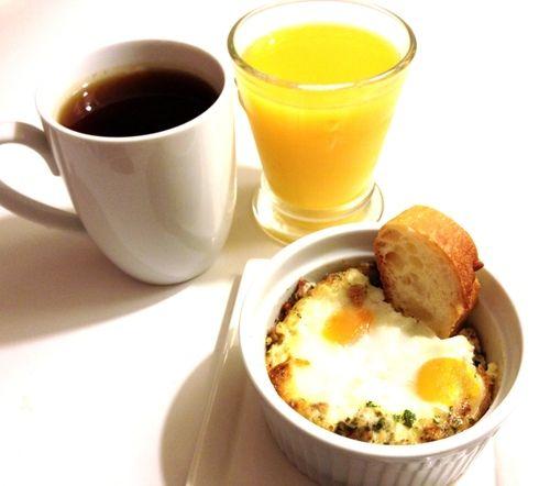 Eggs en Cocotte (herb baked eggs)
