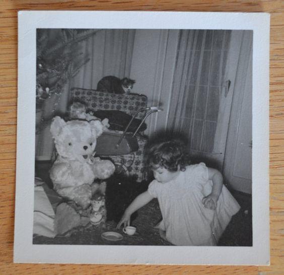 Vintage 1950s Black & White Christmastime by TallTreeVintage