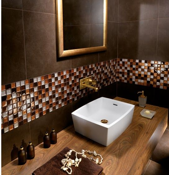 baños color chocolate modernos - Buscar con Google  Baños ...