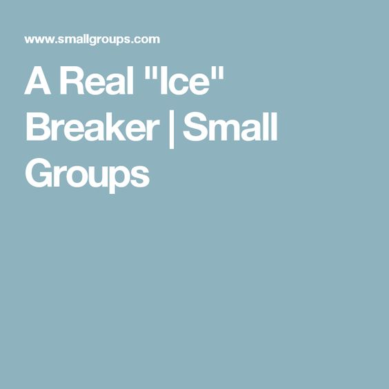 "A Real ""Ice"" Breaker 