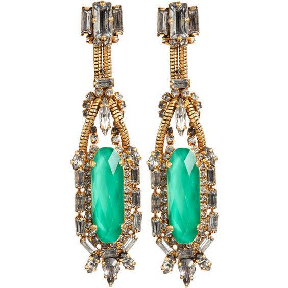 Erickson Beamon Crystal Bossanova Earrings (390 AUD) found on Polyvore