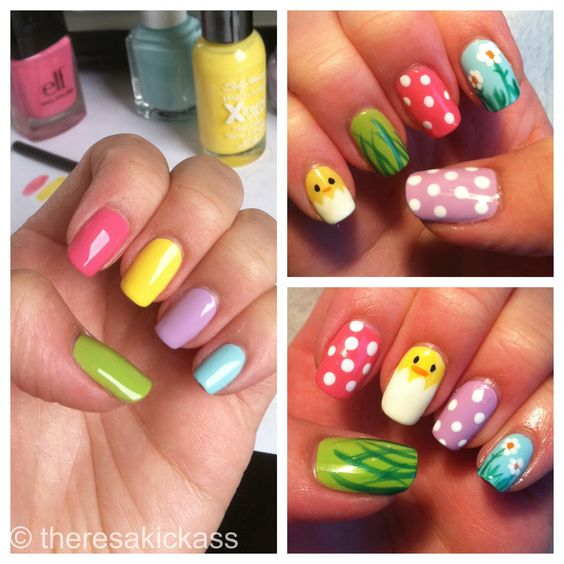 Really cute Easter nails