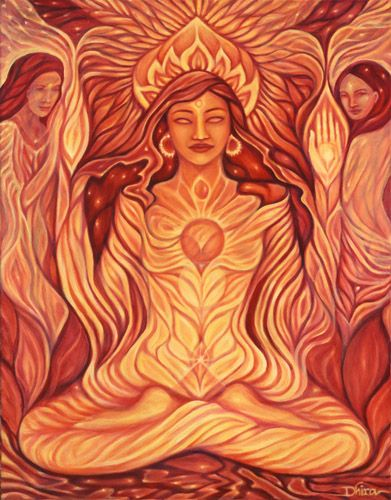 The Sacral Chakra is the seat of Shakti, the feminine aspect of Divine energy.  This is the center of all creativity, whether giving birth to a child, a story or any other work of art.  This is the source of creative energy for all artists.: