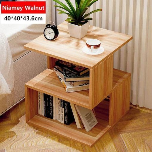 Simple Bedroom Nightstand Living Room Sofa Side Table Tea Hocksgome Bookshelves Diy Side Tables Bedroom Home Furniture