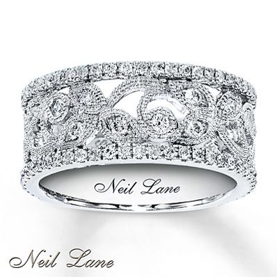 Diamond Ring 3/4 ct tw Round-cut  14K White Gold. Oh my gosh i want this so bad. Its absolutely amazing.