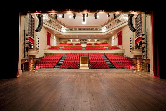 Queen Mary Hall, London - 778 seats. Auditorium view from the back of the stage