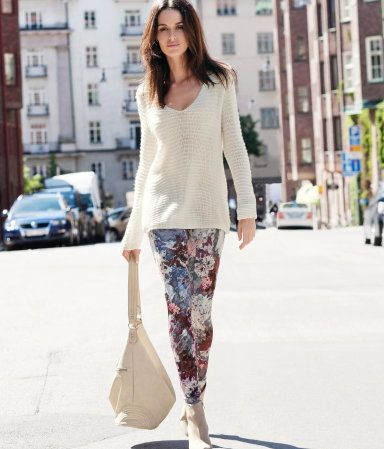 I like these leggings. And the sweater...Guess I just like the whole outfit!