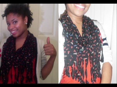 DIY | How to Make Fringe INFINITY Scarf