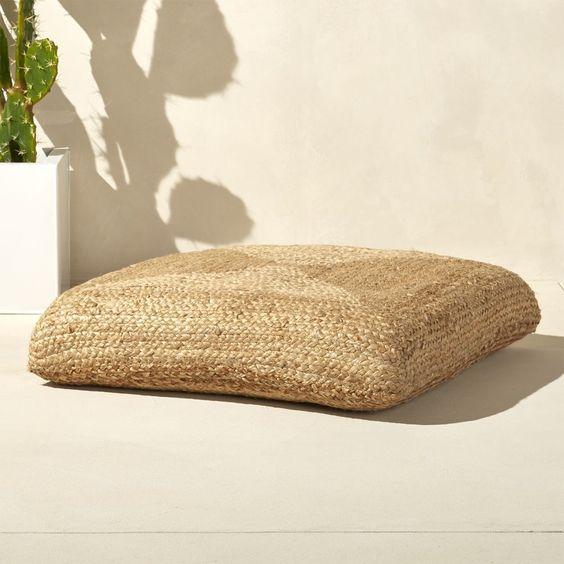 jute floor cushion