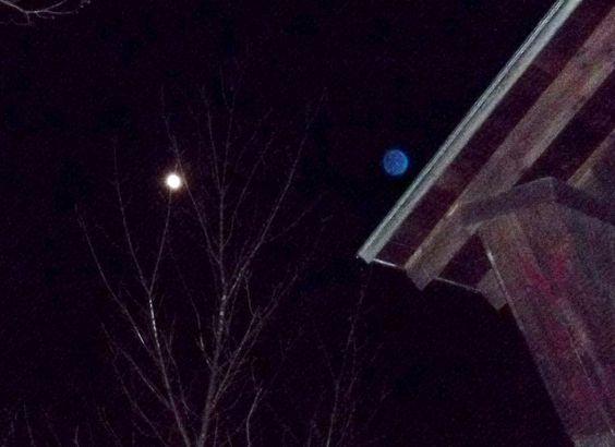 Supermoon - blue orb with supermoon.